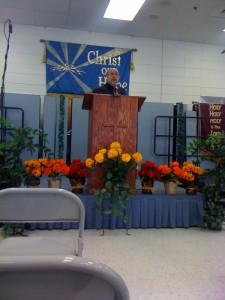 Tom preaching 15Nov09